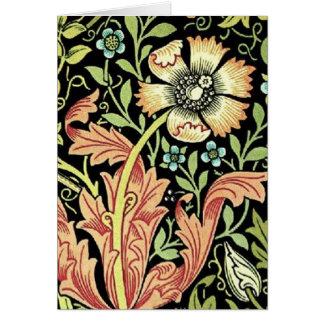 Papel pintado floral del vintage tarjetón