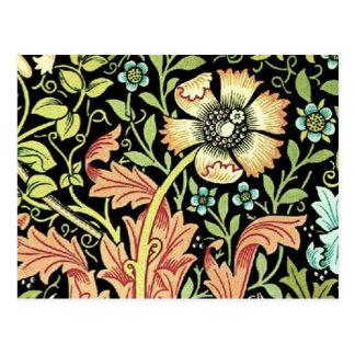Papel pintado floral del vintage tarjetas postales