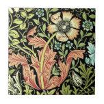 Papel pintado floral del vintage teja cerámica