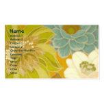 Papel pintado floral del vintage, verde de la turq tarjeta de visita