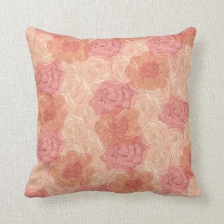 Papel pintado floral delicioso rosado almohada