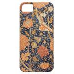 Papel pintado floral elegante de William Morris iPhone 5 Cárcasa