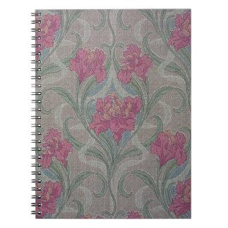 Papel pintado floral estilizado, 1900-1910 cuadernos