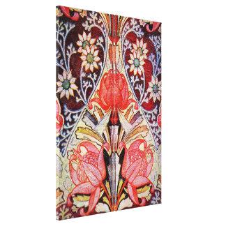 Papel pintado floral hermoso del vintage lona envuelta para galerias