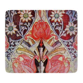Papel pintado floral hermoso del vintage tabla de cortar