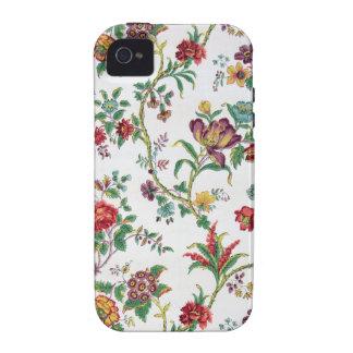 Papel pintado floral multicolor, C. 1912 Case-Mate iPhone 4 Funda