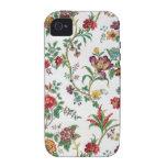 Papel pintado floral multicolor, C. 1912 iPhone 4 Carcasa