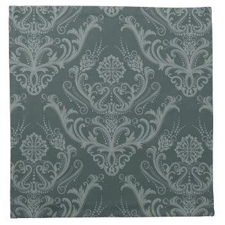 Papel pintado floral verde de lujo del damasco servilleta de papel