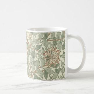 Papel pintado floral William Morris de la madresel Tazas De Café