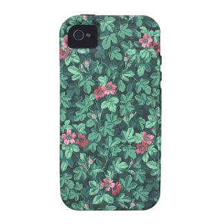 Papel pintado floreciente del arbusto color de carcasa Case-Mate para iPhone 4