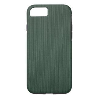 Papel pintado ligero y verde oscuro de las rayas, funda iPhone 7