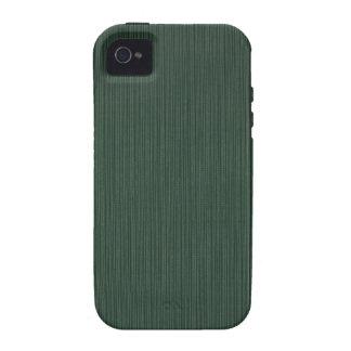 Papel pintado ligero y verde oscuro de las rayas, funda para iPhone 4/4S