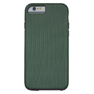 Papel pintado ligero y verde oscuro de las rayas, funda resistente iPhone 6
