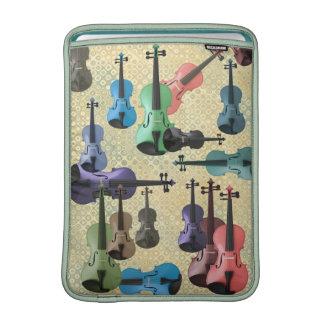 Papel pintado multicolor del violín fundas MacBook