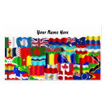 Papel pintado ondulado de la bandera, su nombre aq plantilla de tarjeta de negocio