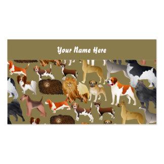 Papel pintado pedigrí del perro su nombre aquí plantillas de tarjeta de negocio