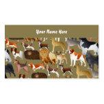 Papel pintado pedigrí del perro, su nombre aquí plantillas de tarjeta de negocio