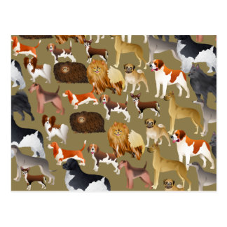 Papel pintado pedigrí del perro postal