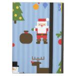 Papel pintado rayado de Navidad