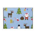 Papel pintado rayado de Navidad iPad Mini Fundas