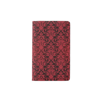 Papel pintado rojo 2 cuaderno de bolsillo moleskine