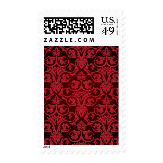 Papel pintado rojo 2 timbre postal