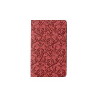 Papel pintado rojo cuaderno de bolsillo moleskine