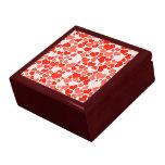 Papel pintado rojo de los corazones caja de joyas