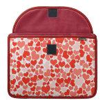 Papel pintado rojo de los corazones funda macbook pro