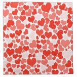 Papel pintado rojo de los corazones servilletas imprimidas