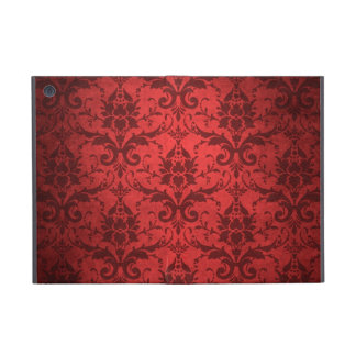 Papel pintado rojo del damasco del vintage iPad mini protectores