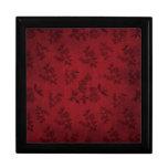 Papel pintado rojo del vintage cajas de recuerdo