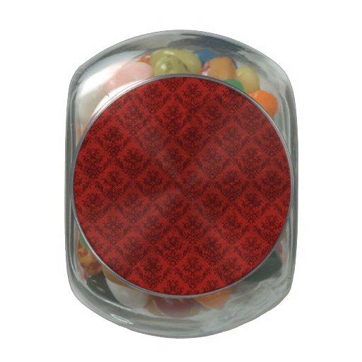 Papel pintado rojo del vintage frascos de cristal jelly belly
