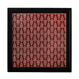 Papel pintado rojo gótico retro caja de regalo