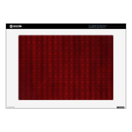 Papel pintado rojo oscuro calcomanías para 38,1cm portátiles
