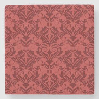 Papel pintado rojo posavasos de piedra