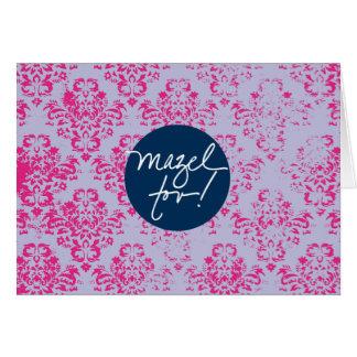 Papel pintado rosado de Mazels Tov Tarjeta Pequeña