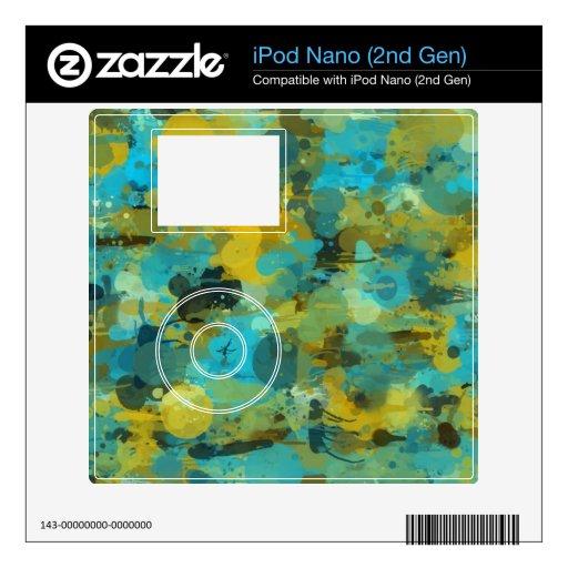 Papel pintado salpicado de la pintura skins para iPod nano
