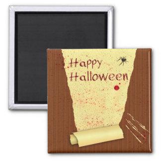 Papel pintado sangriento del feliz Halloween - Imán Para Frigorífico