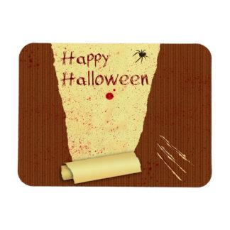 Papel pintado sangriento del feliz Halloween - Imán Rectangular