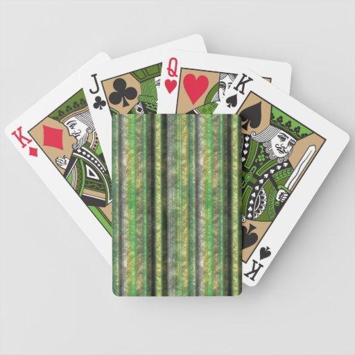 Papel pintado verde barajas de cartas