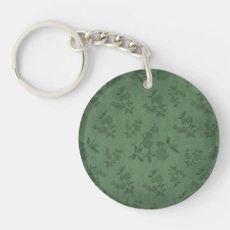 Papel pintado verde del vintage llaveros