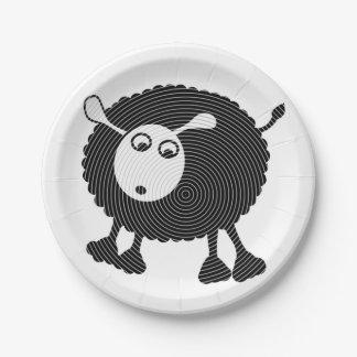 Papel Plate-$1.50/plate de ovejas negras Plato De Papel De 7 Pulgadas