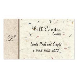 Papel presionado natural - papeles hechos a mano tarjetas de visita