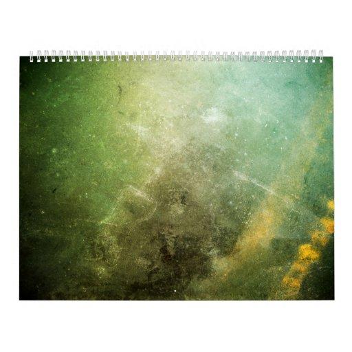 Papel psicodélico 4 calendarios de pared