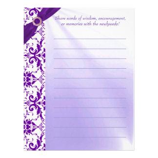 Papel púrpura del Guestbook Membrete A Diseño