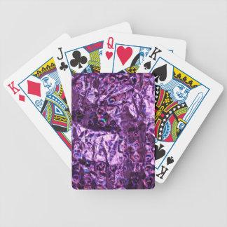 Papel púrpura del holograma baraja cartas de poker