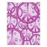 Papel púrpura del libro de recuerdos de los signos membrete