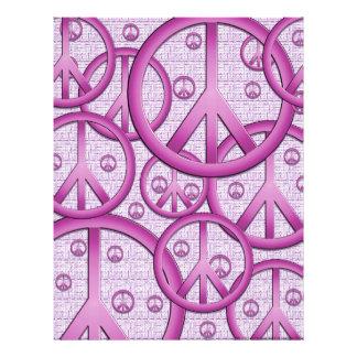 Papel púrpura del libro de recuerdos de los signos membrete a diseño