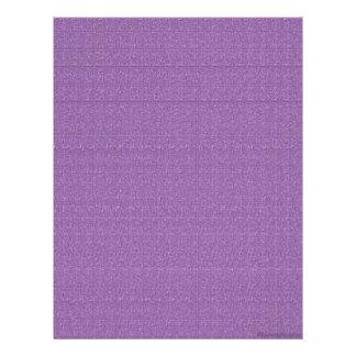 Papel púrpura del libro de recuerdos del paño membrete